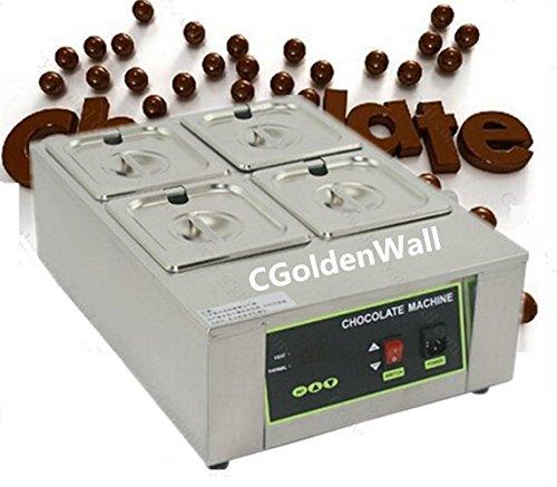 Gewerbliche Vier (cgoldenwall 8kg Kapazität 4Tanks gewerblichen E-Kolben Schokolade schmelzen Schokolade Schokolade Schmelztiegel Schokolade Aushärtung Maschine Digital Schokolade Wärmer 110V/220V CE)