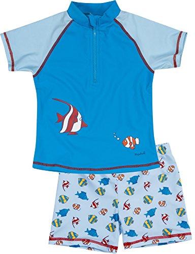 Playshoes Jungen UV-Schutz Bade-Set Fische hellblau Badehose, Blau (original 900), 122 (Herstellergröße: 122/128)