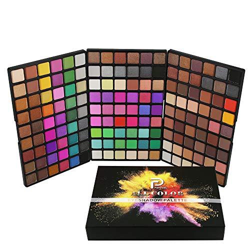 Palette de Fard à paupières, FantasyDay 162 Couleurs Professionnelle Shimmer Matte Ultra Pigmenté Bases de Ombre à paupières Maquillage Palette Cosmétique Set - Eyeshadow Makeup Beauty Kit