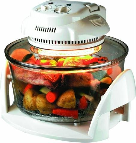 Team 12 Litre Halogen Oven 1300W with 5 Litre Extender Ring and Accessories