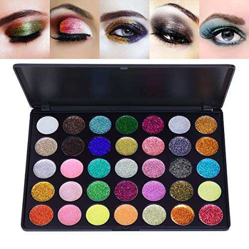 Frcolor 35 Farbe Glitter Lidschatten Make-up Schatten Pigmente Powder Makeup Kit Kosmetik Augenschatten