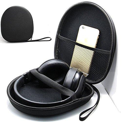 Headset Tasche, YUMQUA Kopfhörer Tasche on/over Ear Headset hard Case Kopfhörer Schutztasche Earphone Case für Kopfhörer as Sony MDR-XB950BT/B XB650BT XB950B1 XB950N1 XB950AP, JBL T450BT usw.-schwarz (Headset-tasche)