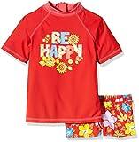 Aquatinto – «Be Happy & Fleurs», UV +50 – Shirt & Boxer de bain Fille