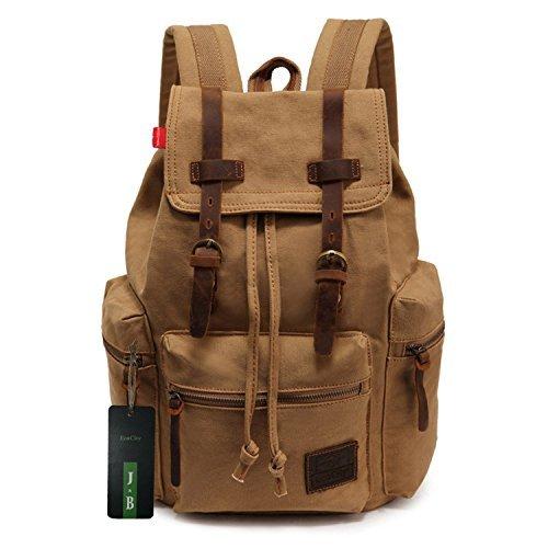 Zaino vintage per scuola o trekking di EcoCity con scompartimento per notebook