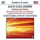 Gallagher: Orchestral Music (Diversions Overture/ Berceuse/ Sinfonietta/ Threnody)
