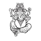 Sticker mural ZOZOSO Idole De Ganesh Ganesha Autocollant Mural Statue De Bouddha De Yoga Sculpté Autocollant Mural Fourniture Nez Long