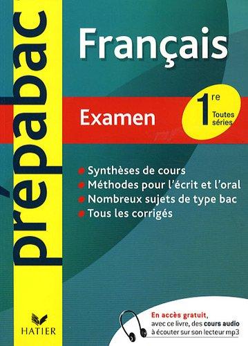 franais-1re-toutes-sries-examen
