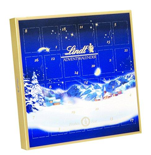 Lindt - Tischkalender zum Aufstellen Pralinen Schokolade Adventskalender