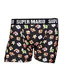 Nintendo Super Mario Bros. Men's Characters & Icons Boxer Shorts Underwear, Large, Black (ZB240354NTN-L), Hombre, Negro (Tamaño Fabricante:Large)