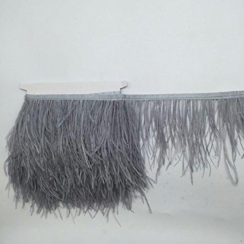 FITYLE Straußenfeder Straußenfedern Flügelfedern Schmuckfeder DIY Kostüm Basteln Deko - Grau