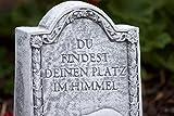 """Grabstein Hund """"Du findest deinen Platz im Himmel"""", frost- und wetterfest, massiver Steinguss - 3"""