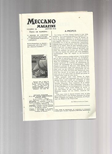 MECCANO MAGAZINE N° 28 janvier 1956 -Records de l'industrie française - escorteur d'escadrille