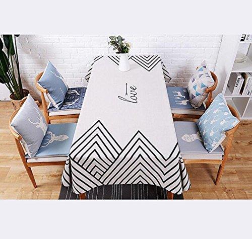 DZYZ Toile de coton et de lin Taille rectangulaire européenne En option , 110*170cm , white