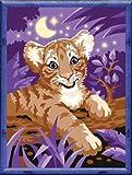 Ravensburger 28160 - Tiger im Mondschein - Malen nach Zahlen, 24x18 cm