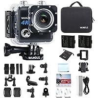 WiMiUS Action Cam 4K Actioncam WiFi Unterwasserkamera 20MP Action-Kamera Wasserdichte Camera (L1- Schwarz)