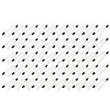 sourcing map 100 piezas Diodo 5V Receptor de cabeza redonda de 3 mm de infrarrojos IR fotoDiodos negro
