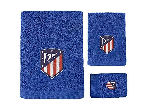 Atlético Madrid. Juego 3 Toallas Baño Ducha Licencia