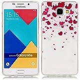 Pour Samsung Galaxy A5(2016)SM-A510F Coque,Ecoway Housse étui en TPU Silicone Shell Housse Coque étui Case Cover Cuir Etui Housse de Protection Coque Étui Samsung Galaxy A5(2016)SM-A510F –XS amour