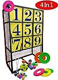 Macro Giant Portable 4 in 1 Patent Pitching Target, Angriffszone, Baseball, Frisbee, Fußball, Golf, Übungsnetz, Trainingshilfe, Fußballtor, Indoor Outdoor, Spielgeräte, Yard Game