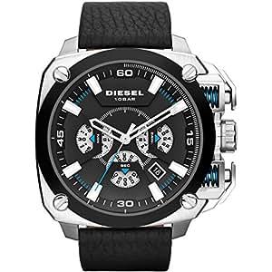 Diesel - DZ7345 - Montre Homme - Quartz - Chronographe - Bracelet cuir noir