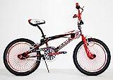 "BICI BICICLETTA BMX FREESTYLE IBK 20"" MONOVELOCITA' STERZO 360° (Rosso)"