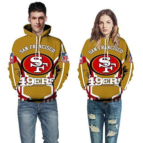 HULUNBR NFL San Francisco 49ers Fußballmannschaft 3D Hoodie Pullover Outdoor-Sport Lässig Männer Und Frauen Modelle