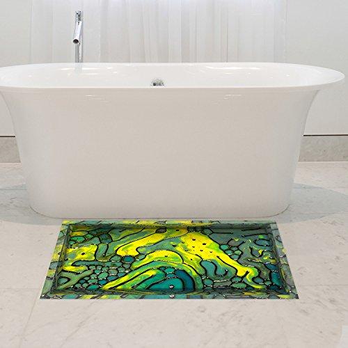 ezimmer Wasserdicht Farbe Muster Anti Slip Boden Sticker Waschküche Dekor (Aquarell Salz)