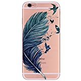 Freessom Coque iphone 7 Plus 8 Plus Silicone Transparent Motif avec la Pomme Apple...