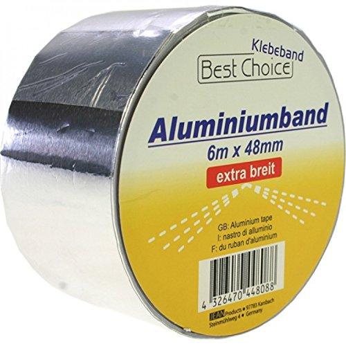 BestChoice 44808 Klebeband Aluminiumband 6m x 48mm 26my