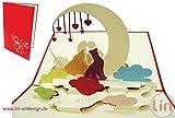 LIN - POP UP Karten Hochzeit, 3D Grußkarten gleichgeschlechtliche Hochzeit, Hochzeitseinladungen, homosexuelle Hochzeitskarten, gleichgeschlechtliches Paar (Nr. 207)