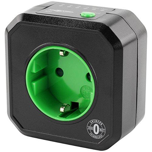 ANSMANN Timer Steckdose AES1 / Schaltbare Steckdose mit Timer für Haushaltsgeräte: Heizlüfter, Kaffeemaschine, Waschmaschine uvm. / Betriebszeit per Tastenfunktion einstellbar -