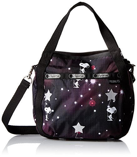 lesportsac-damen-umhangetasche-mehrfarbig-snoopy-in-the-stars