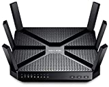 TP-Link Archer C3200 Tri-Band WLAN Gaming Router (2x 1300Mbit/s (5GHz) + 600Mbit/s (2,4GHz),4 Gigabit LAN Ports, 1GHz Dual-Core CPU, Print/Media/FTP Server, Beamforming) schwarz