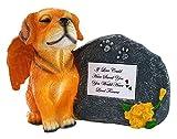 Impressum Plus Gold Engel Gedenk-Statue Hund mit Tribute Teller und Andenken Box für Asche von, If Love Could, White Plate