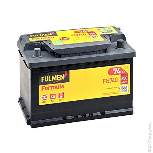 Fulmen - Batterie voiture FB740 12V 74Ah 680A - Batterie(s) - 574012068 ; E