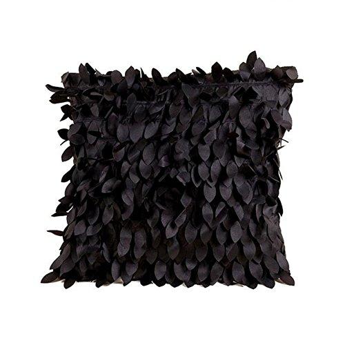 Myfei 42cm * 42Leaf Sofa Kissen, Europa Typ Kissenbezug Auto-Dekoration bestickt Kissenbezüge Schwarz -