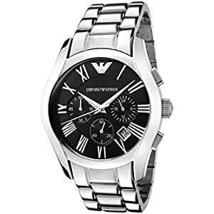 Emporio Armani Herren-Armbanduhr XL Chronograph Quarz Edelstahl AR0673