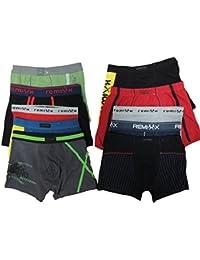 6er Pack Kinder Jungen Boxershorts von Remixx Größe 134-176