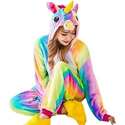 GOTH Perhk Unisexe Femme Enfant Combinaison Pyjama Licorne Pyjama Une Pièce Unicorne â Capuche...