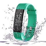 Fitness Tracker, AmyTech Aktivitätstracker mit intergrierter Herzfrequenzmessung Pulsuhr IP67 Wasserdicht Smart Armband für Android und IOS Smartphones (Türkis)