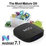 [2018 Última Edición] MXQ Mini Android 7.1 TV Box,Quad-Core Cortex-A7 2GB RAM+8GB ROM Smart TV Box/2.4GHz WiFi/BT 4.0/HD/H.265/4K(60 HZ)/LAN 100M