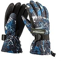 Overmont gants de ski en matériau antidérapant 3D type de PVC gants imperméables pour les sports d'hiver
