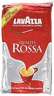 Lavazza Caffe Qualita Rossa Coffee 250 g (Pack of 6) from Lavazza