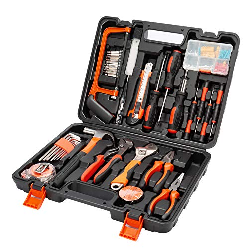 Mallette à Outils Complète Coffre à Outils en 100 Pièces Outils Bricolage Mecanique pour Réparations Quotidiennes