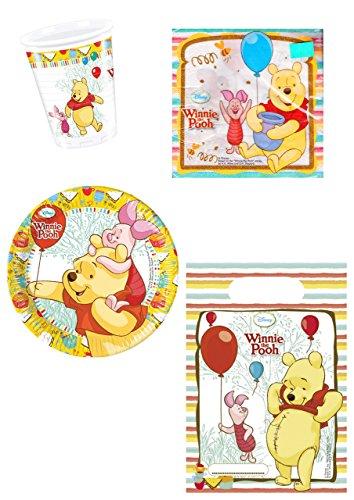 Unbekannt Disney Winnie l'ourson Lot de 48 pièces jetables pour fête