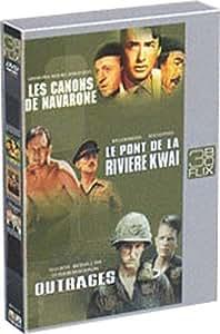 Les Canons de Navarone / Le Pont de la rivière Kwaï / Outrages - Coffret Flixbox 3 DVD