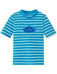 Schiesser Jungen Bademantel Aqua Bade-Shirt