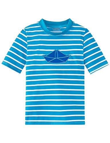 Preisvergleich Produktbild Schiesser Jungen Bademantel Aqua Bade-Shirt, Blau (Blau 800), 98 (Herstellergröße:098)