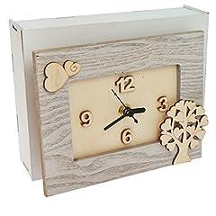 Idea Regalo - Orologio legno albero della vita bomboniera scatola regalo legno