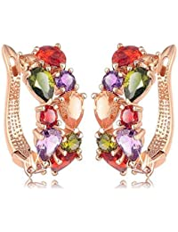 YouBella Multi-Colour Gold-Plated Stud Earrings for Women